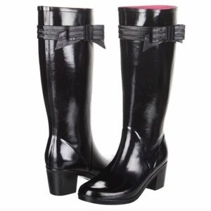 Kate Spade Rain Boots with Bow Detail